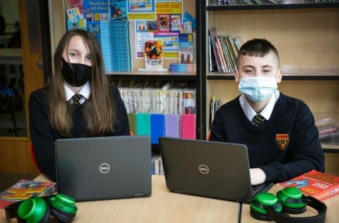 Laptop donation to Cramlington Senior Learning Village | Asda Cramlington