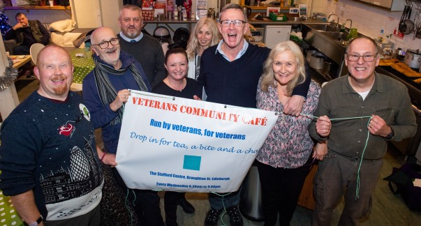 Asda Fight Hunger Create Change supports the Veterans Community Cafe in Edinburgh