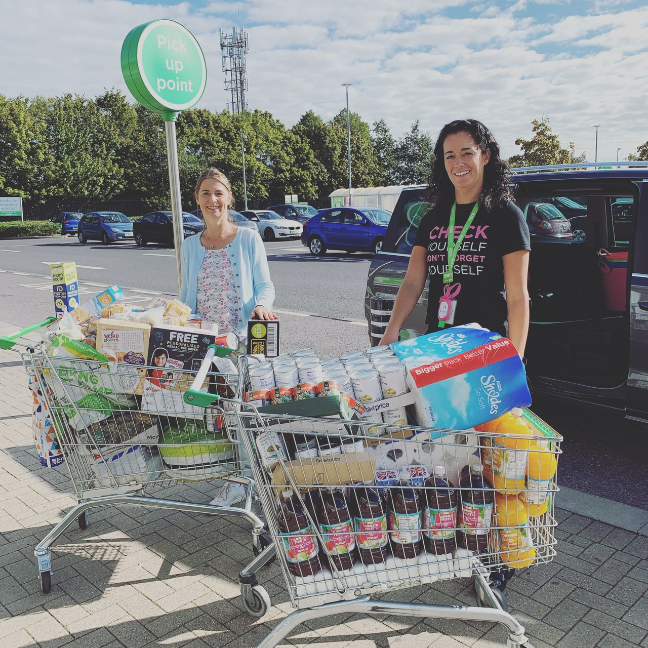 Donations to our local foodbank | Asda Havant