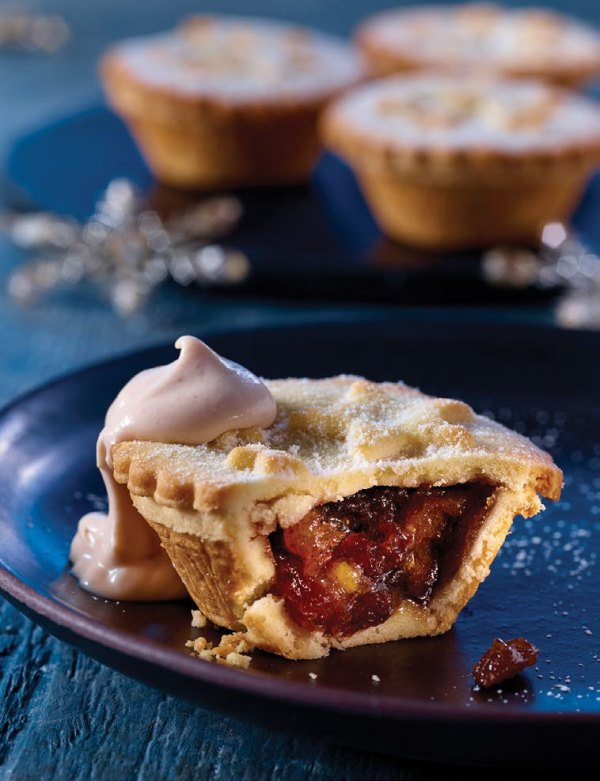 Extra Special Sloe Gin Mince Pies with Pink Gin Cream