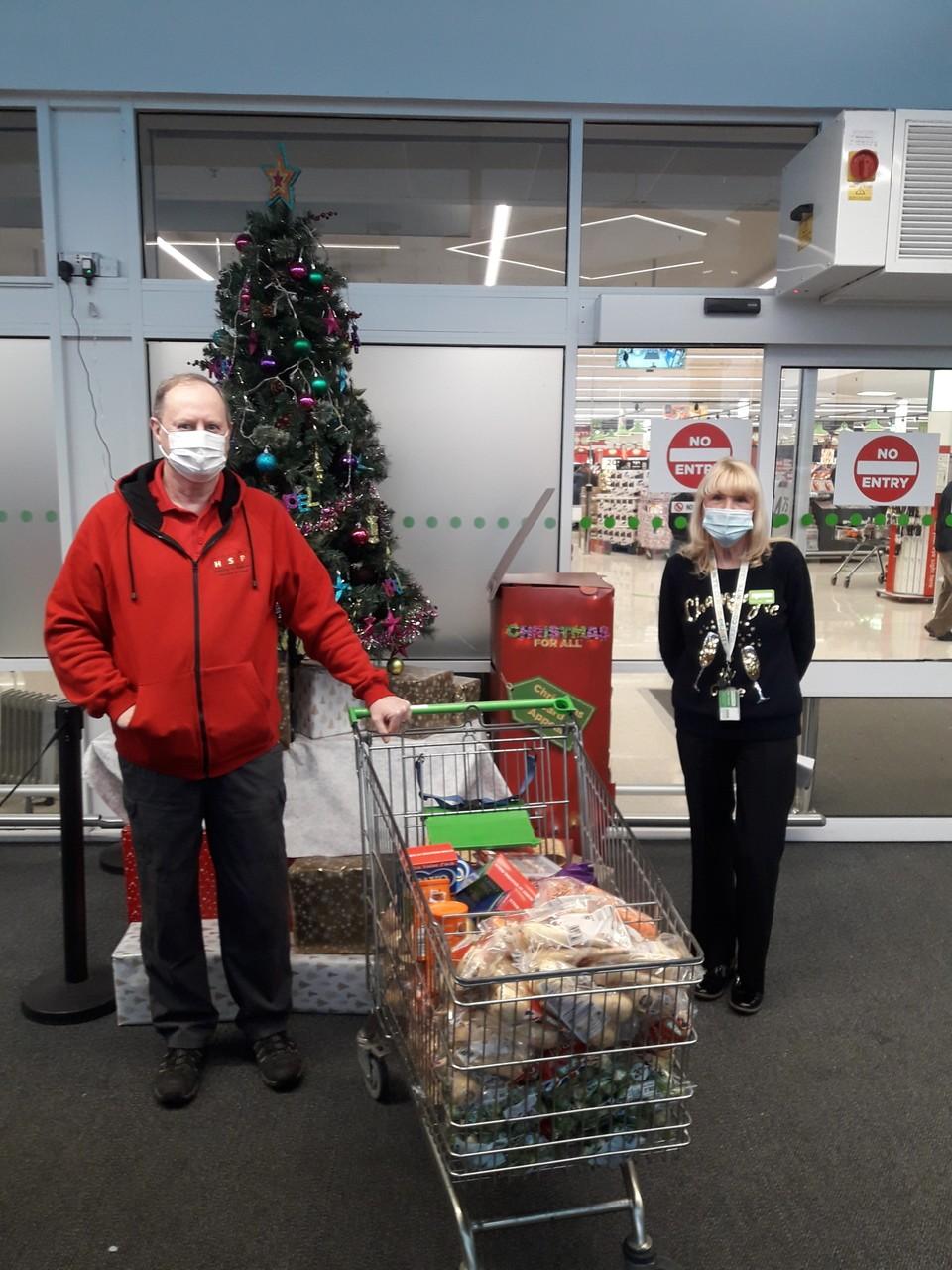Christmas dinner donation | Asda Leigh