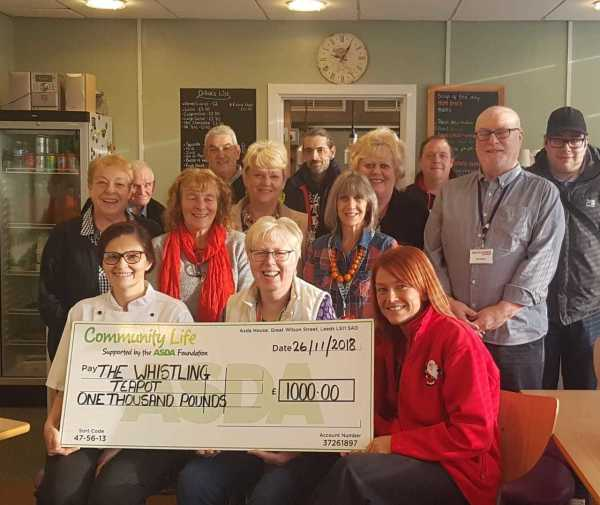 Asda Spennymoor grant to The Whistling Teapot at St Paul's Centre