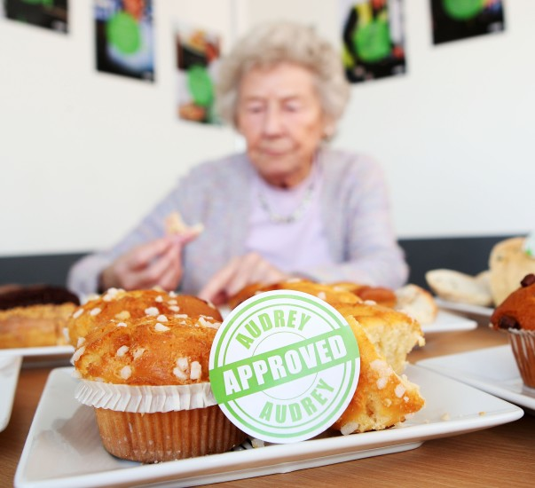 Audrey gives her seal of approval to Asda's cakes and bread