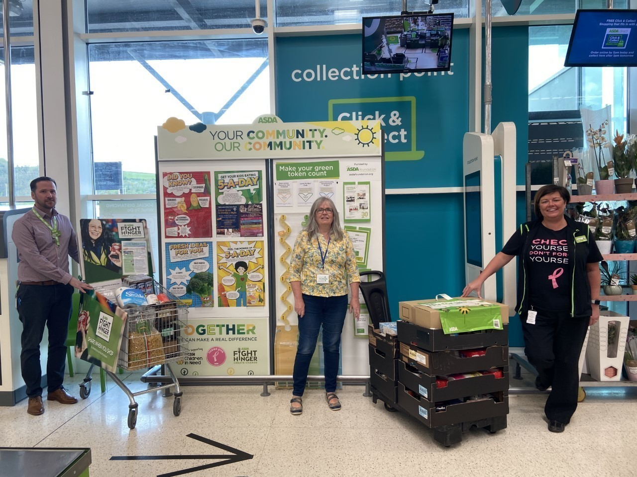 Fight Hunger Create Change support | Asda Larne