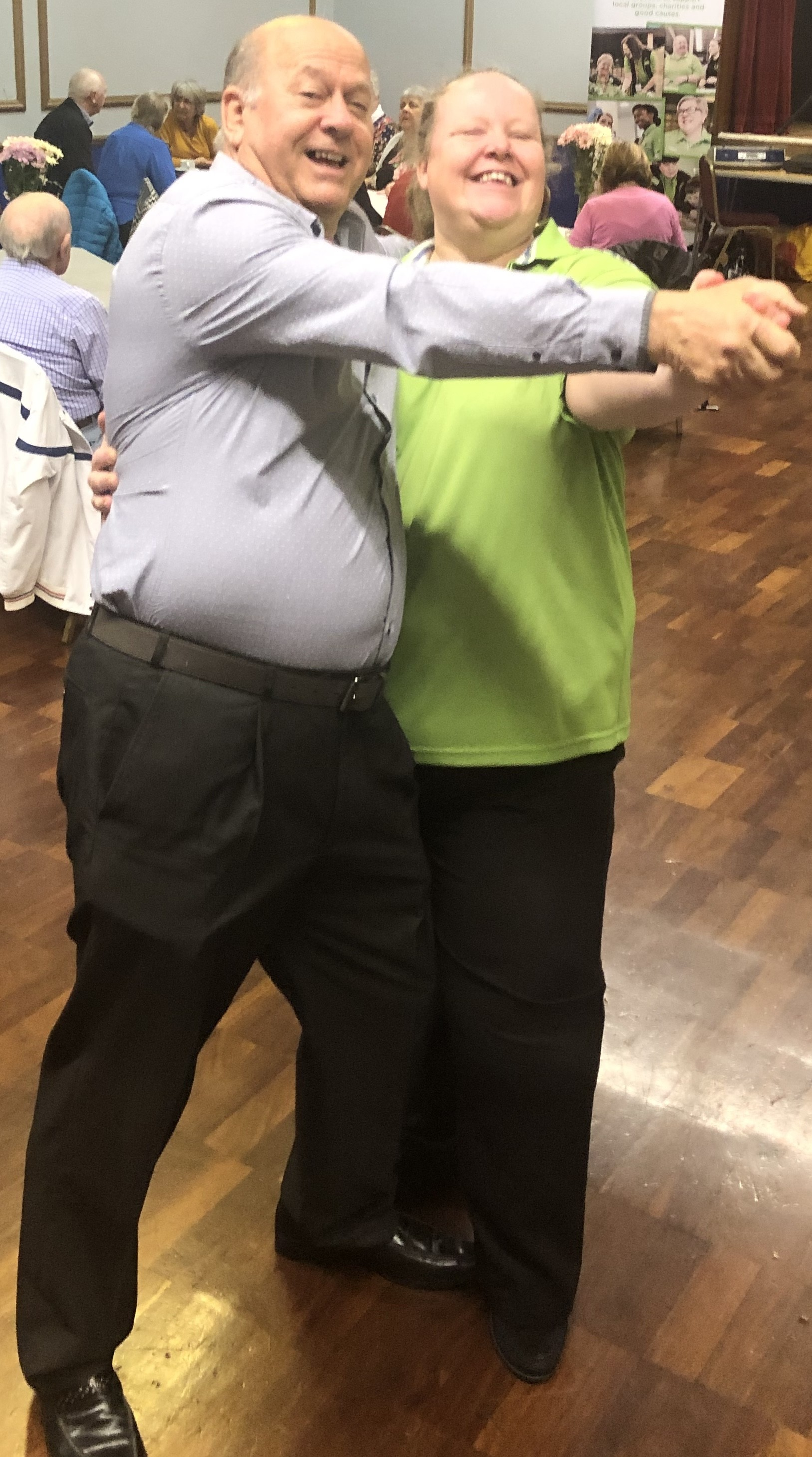 Asda Gosport community champion Rachel with Malcolm