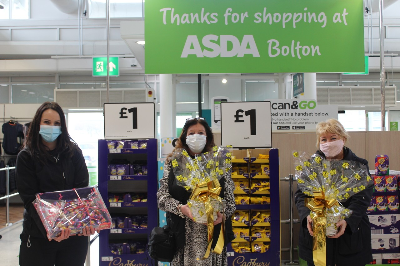 Bolton and Burnden Park donate Easter Eggs to the 'Friends of Astley Bridge'. | Asda Bolton