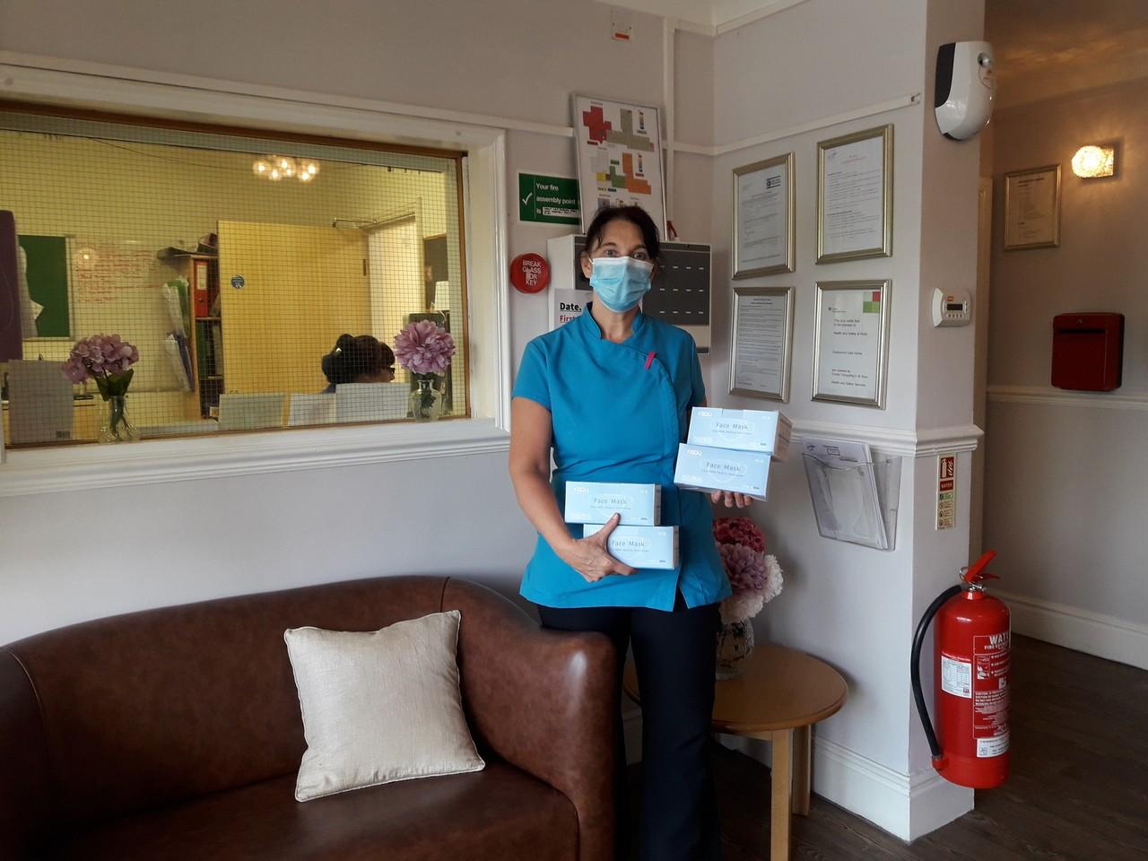 Donation of face masks | Asda Newport