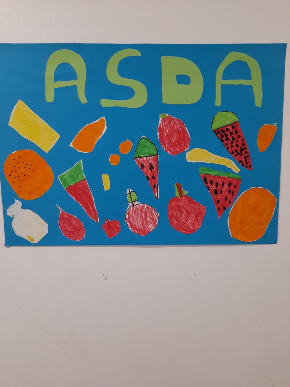 Thankyou poster from St.Josephs Catholic School, came with letters from the children who received the healthy snacks. | Asda Broadstairs