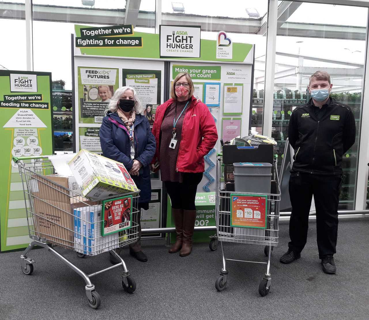 Donation to Ysgol Ty Ffynnon   Asda Queensferry