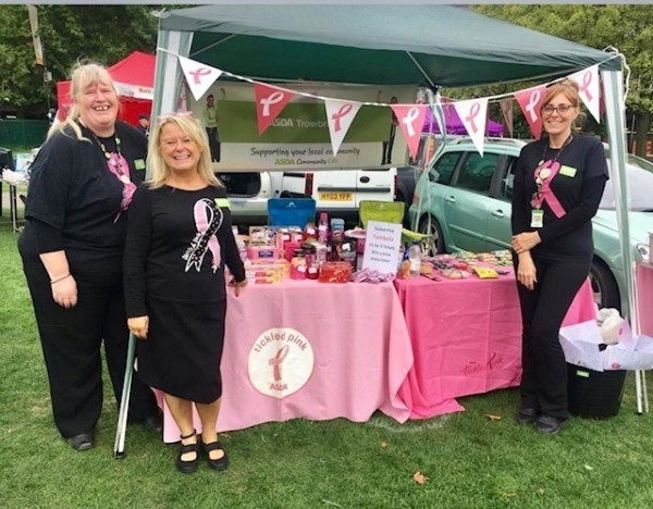 Asda Melksham, Frome and Trowbridge community champions fundraising for Tickled Pink