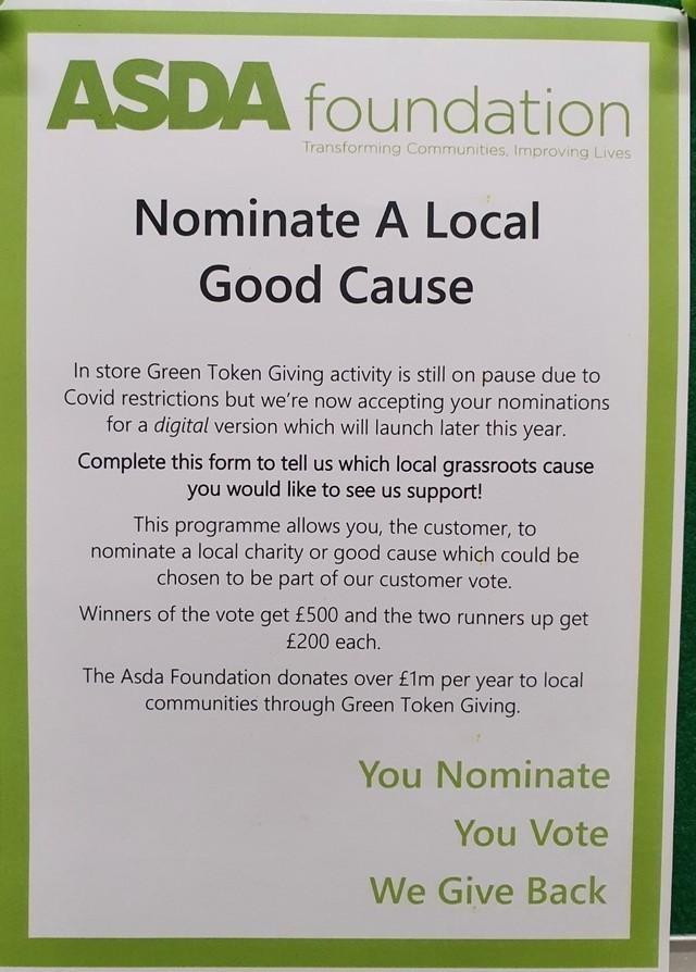 Green tokens are back | Asda Fleetwood