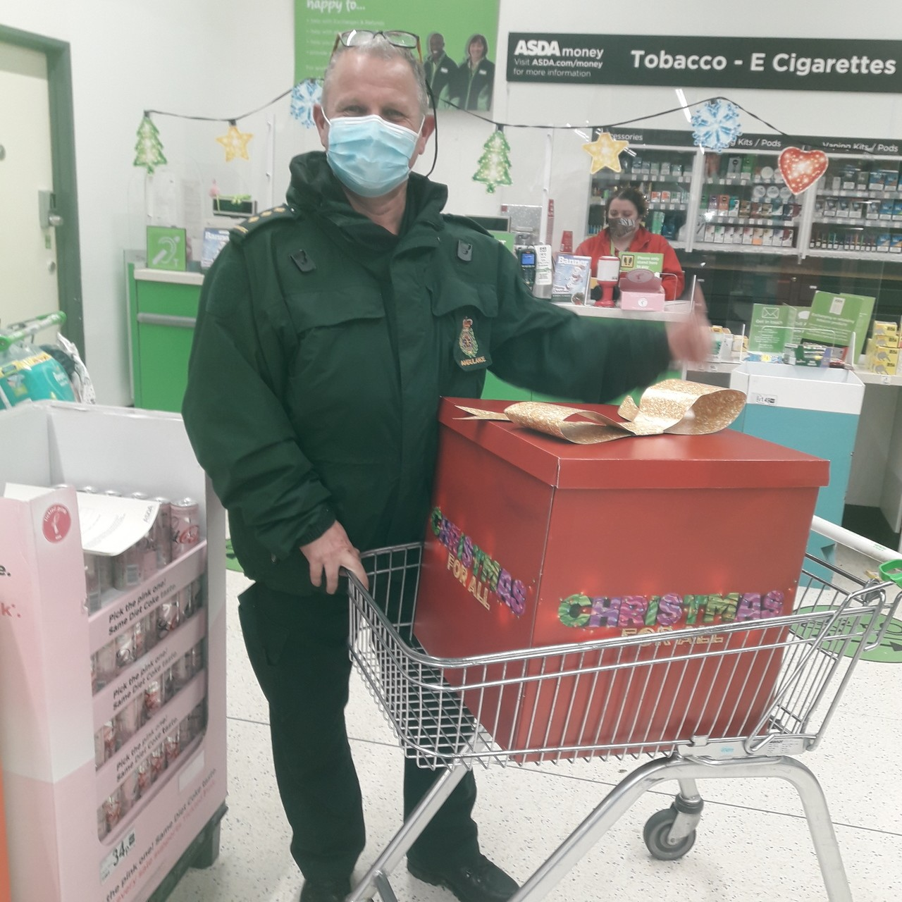 Festive treats for South West Ambulance Charity | Asda Bodmin