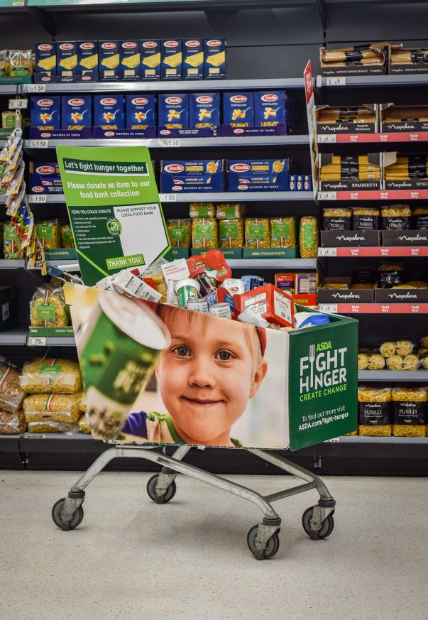 Asda has donated more than one million meals from surplus food to FareShare Go
