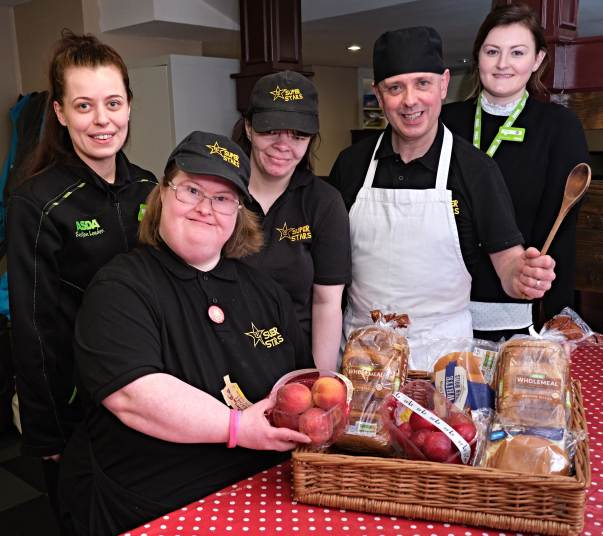 Asda Fight Hunger Create Change supporting Superstars Club in Cookstown