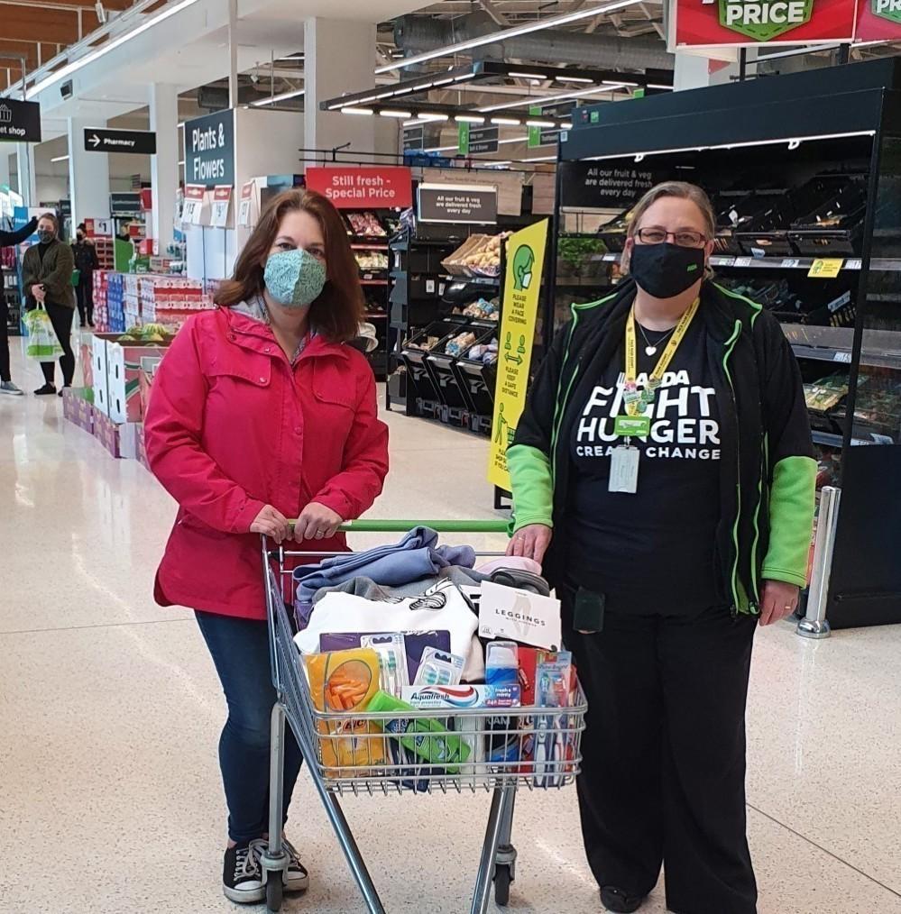 Donation to Wintercomfort for the homeless   Asda Cambridge