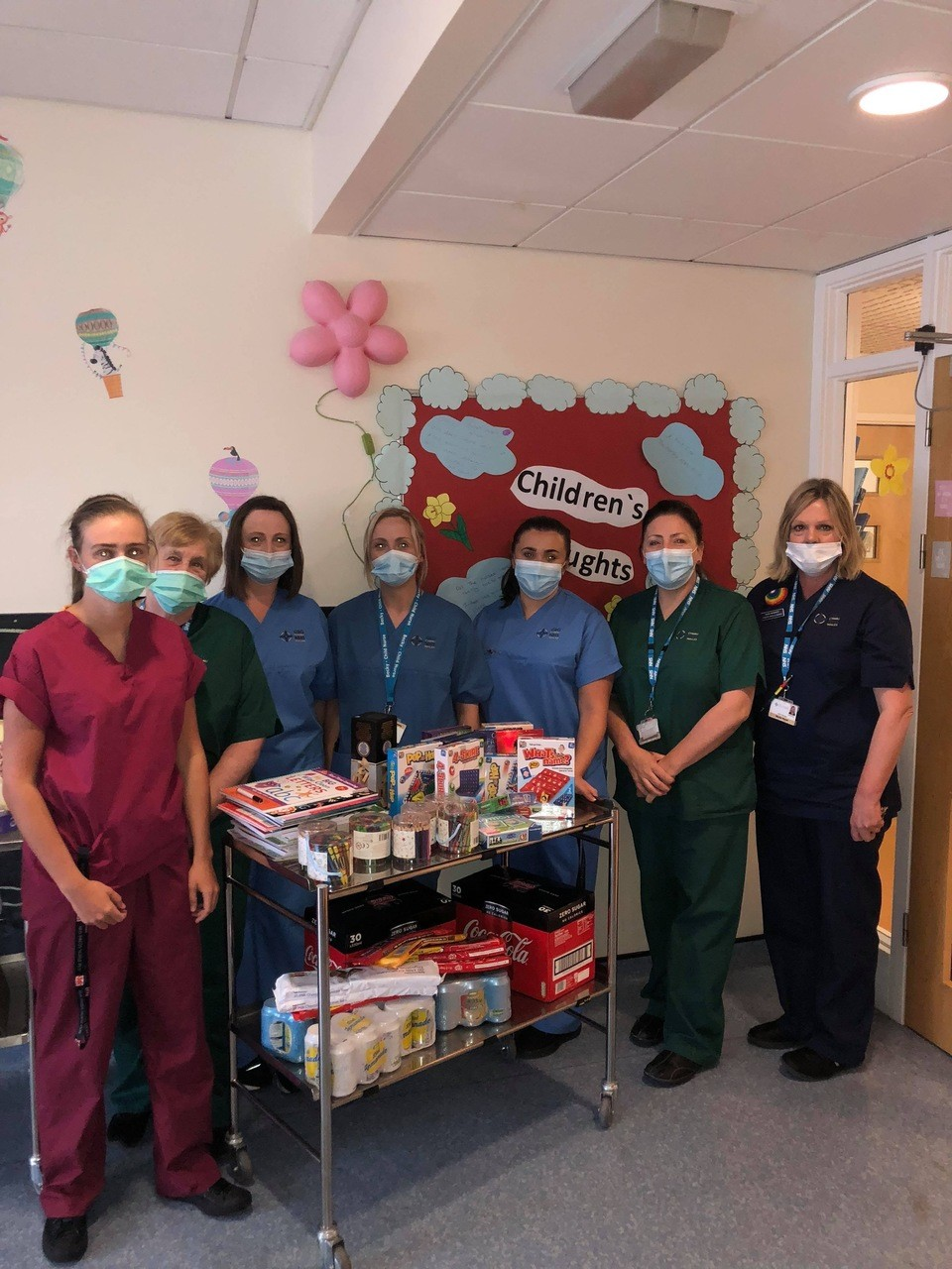 Donations to hospital  | Asda Merthyr Tydfil
