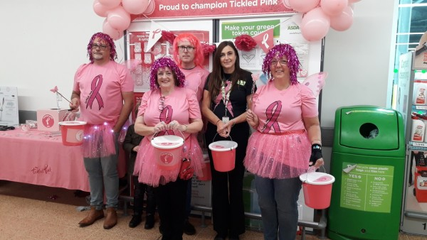 Asda Longwell Green colleagues raise money for Tickled Pink