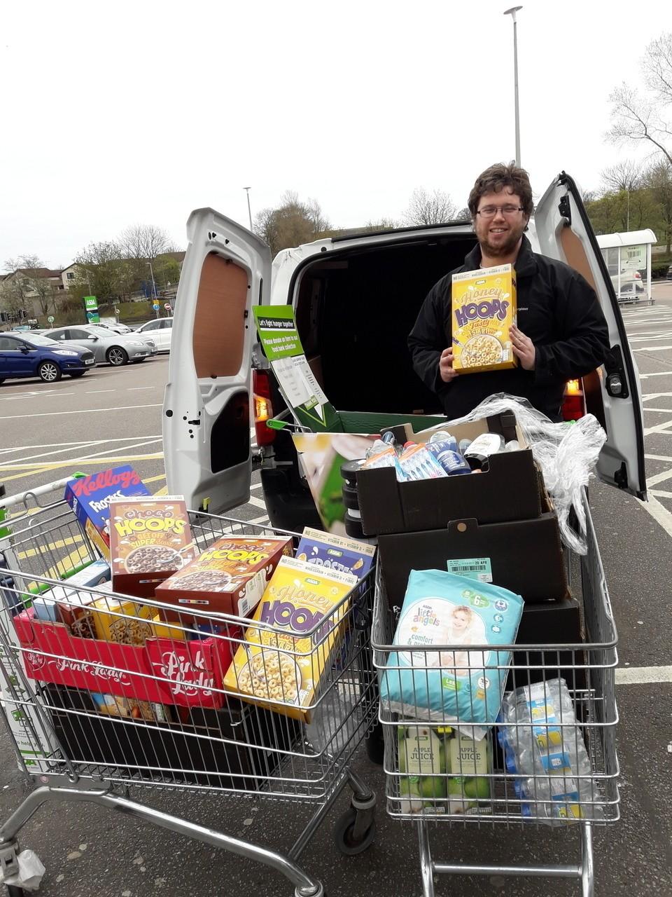 Donation from Asda Middleton Park to CFINE | Asda Middleton Park