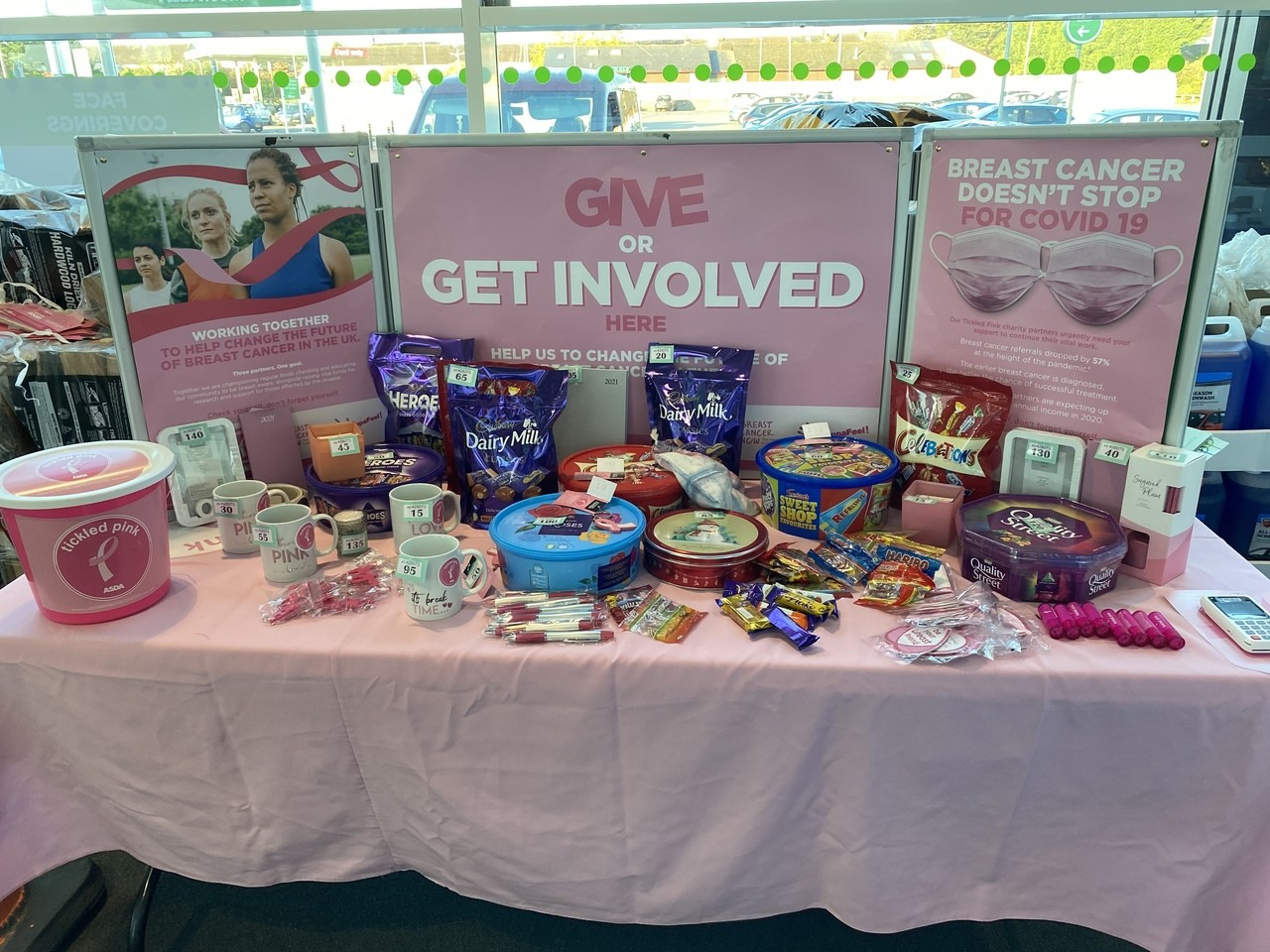 Tickled Pink fundraising | Asda Gorseinon