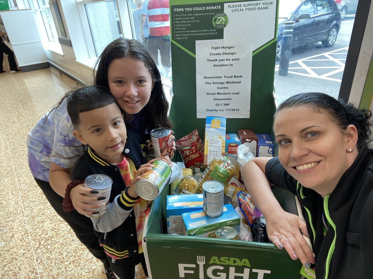 Gloucester food bank support | Asda Gloucester