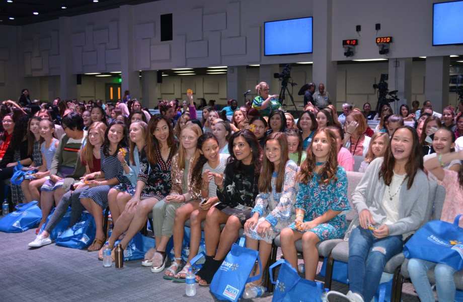 Girls in the audience during the Girls Who Code event