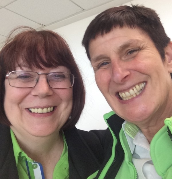 Christine Conway with 'work mum' Sue Elliot ahead of Mother's Day at Asda Nottingham West Bridgford