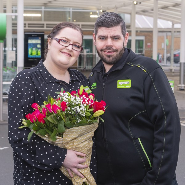 Asda colleagues who met at work are getting marrid