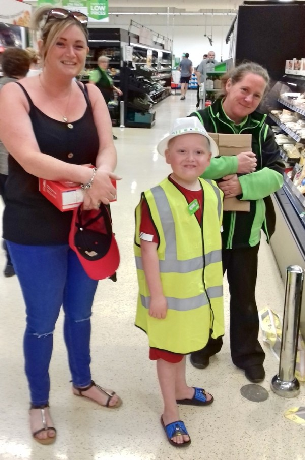 Seven-year-old Jack given day to remember by colleagues at our Breck Road store