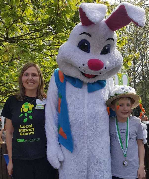 Asda Waterlooville community champion Jacqui Benham at an Easter party