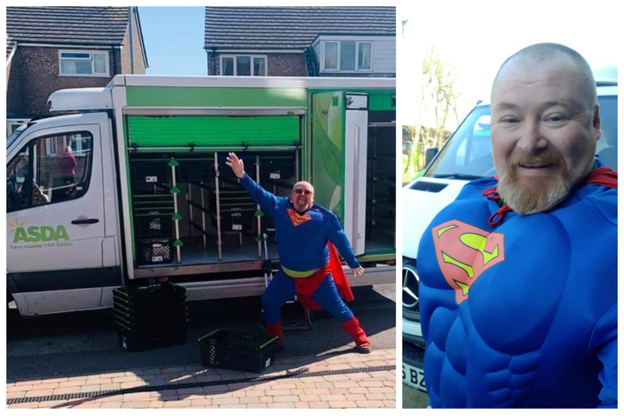 Superman delivers food and smiles | Asda Eastbourne