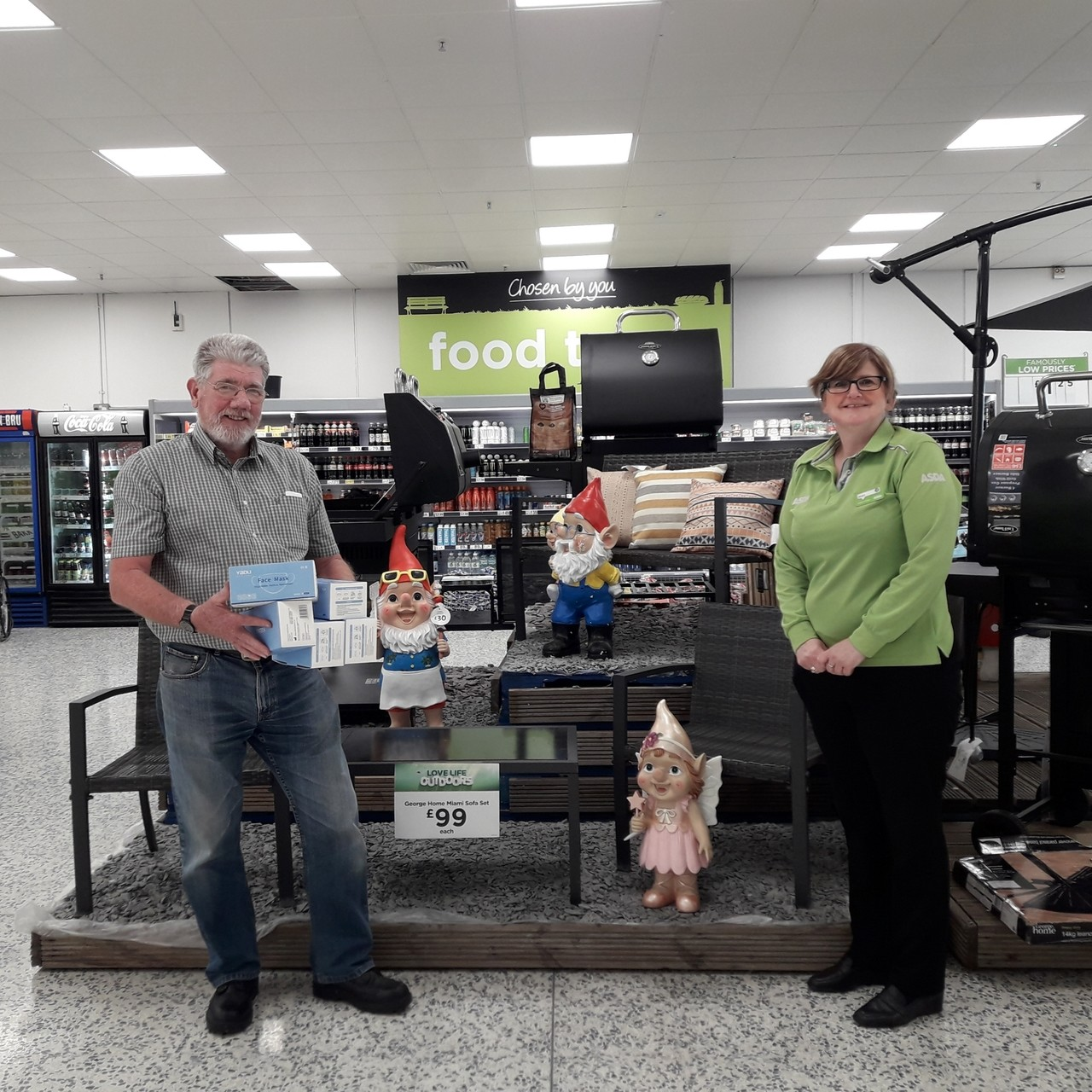 Care homes donation | Asda Kirkcaldy