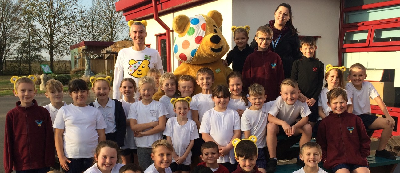 Stephen Takes Pudsey Bear On A Marathon Tour Of Schools To