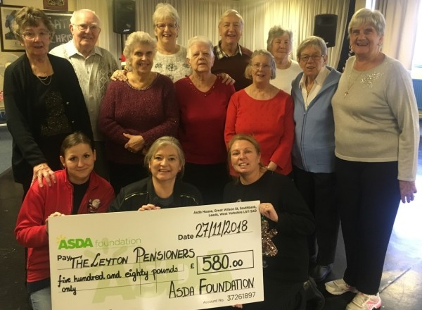 Asda Leyton Mills community champion Tracie with the group