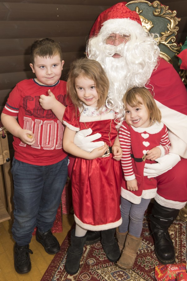 Children with Santa at Thurmaston