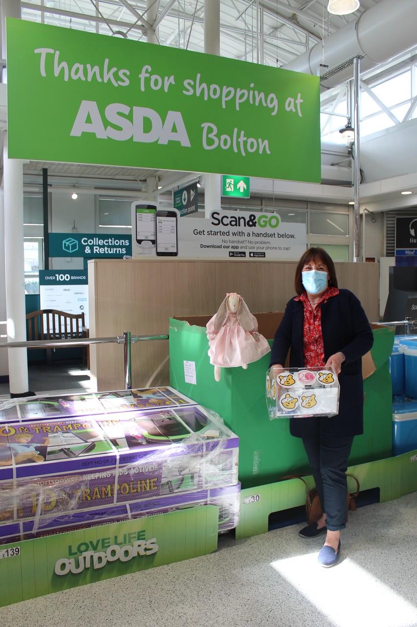 Easter Bunny raffle Bolton store.   Asda Bolton
