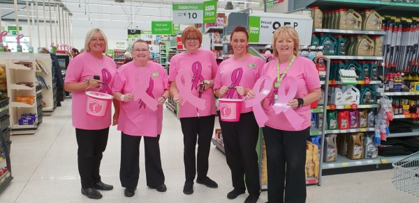 Asda Southport colleagues Tickled Pink