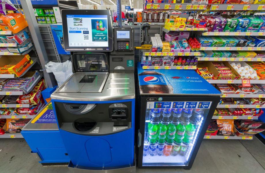 Walmart Self Checkout Area