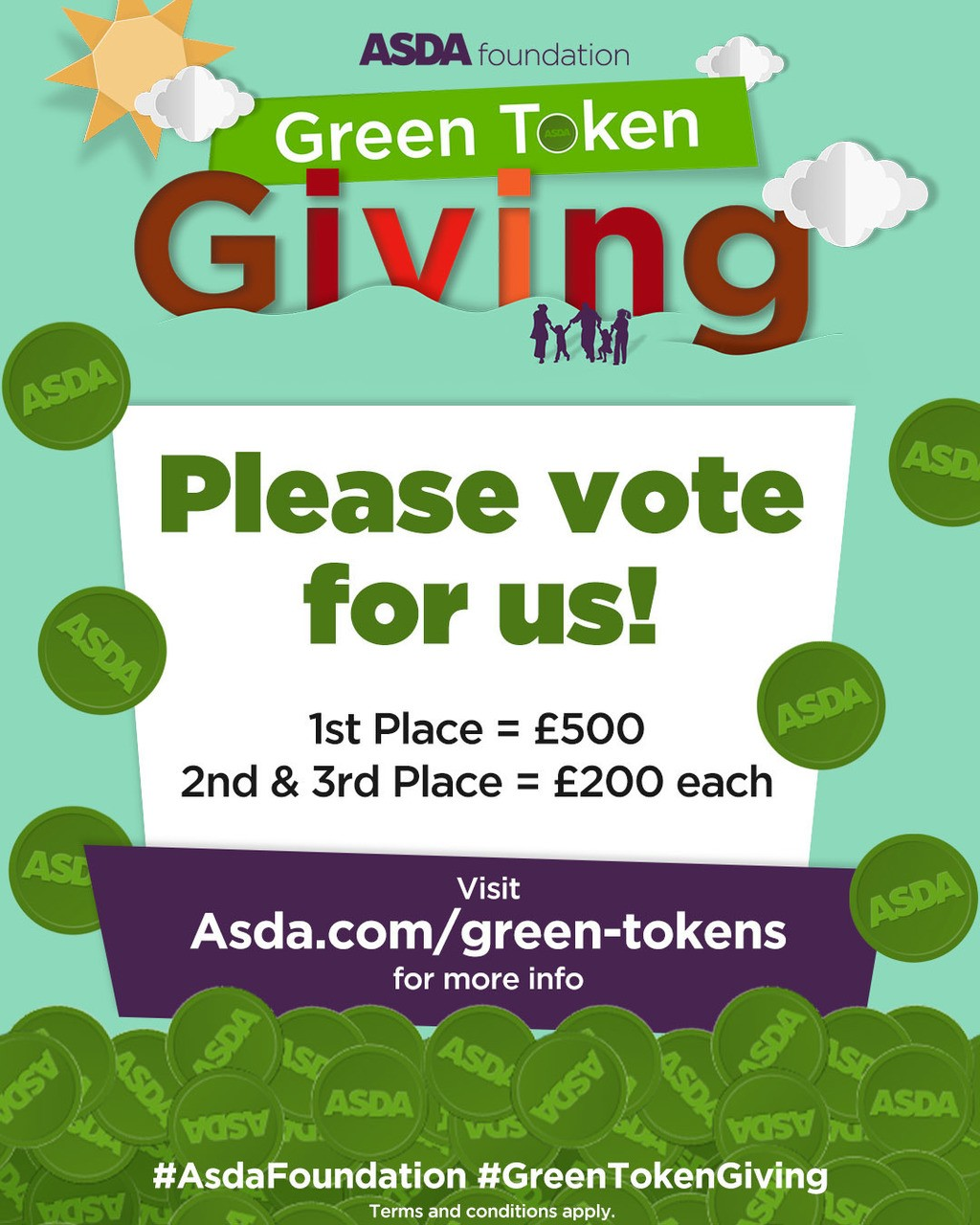 Green token voting is back | Asda Waterlooville