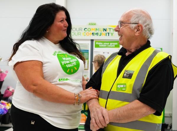 Asda Lowestoft handyman Jeff Drayton is like a father to community champion Bev Shipp