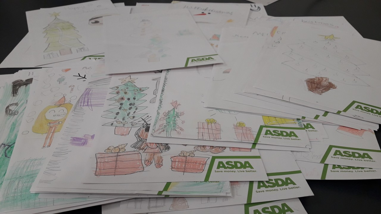 Christmas cards for Lindon House care home | Asda Wrexham