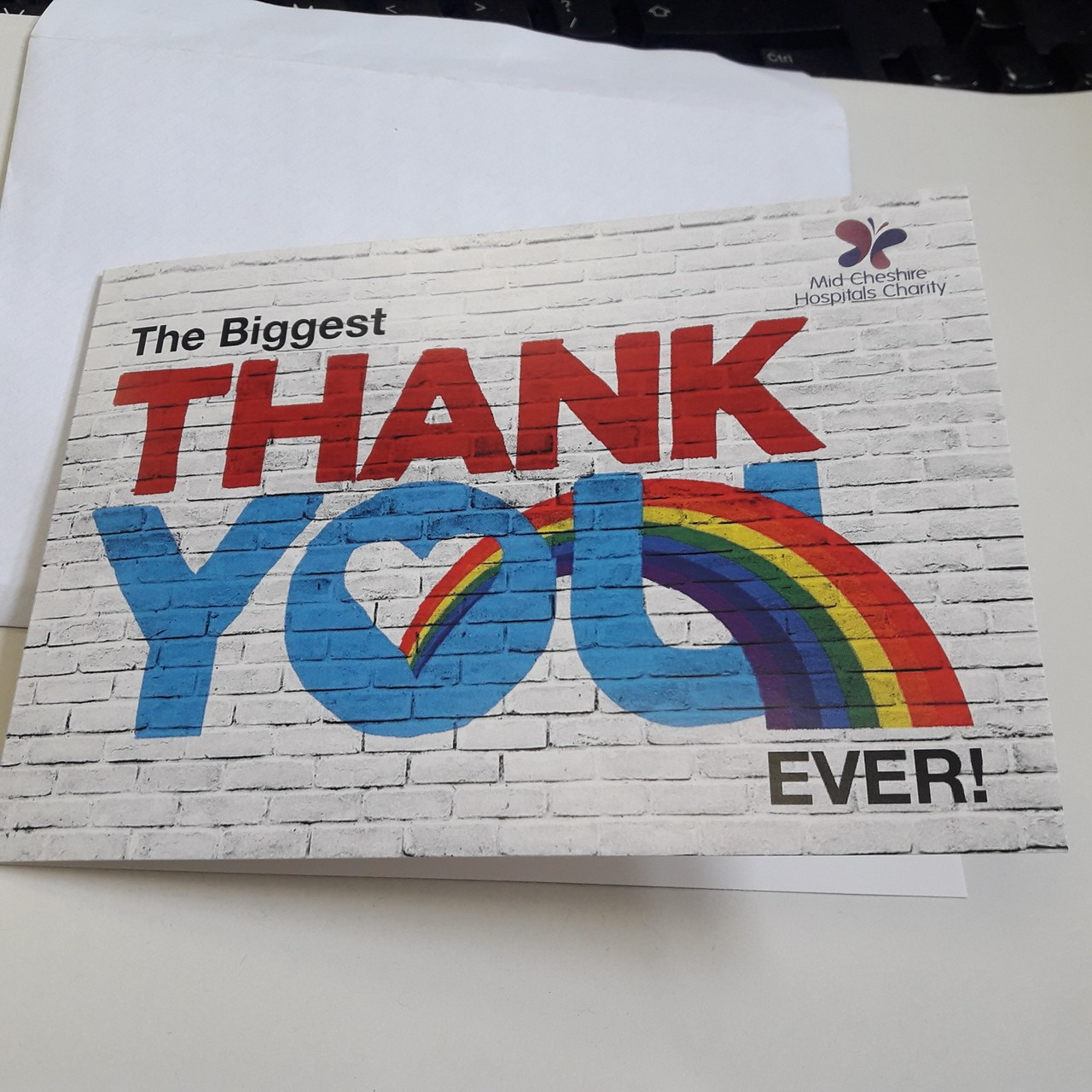 Thank you card  | Asda Crewe