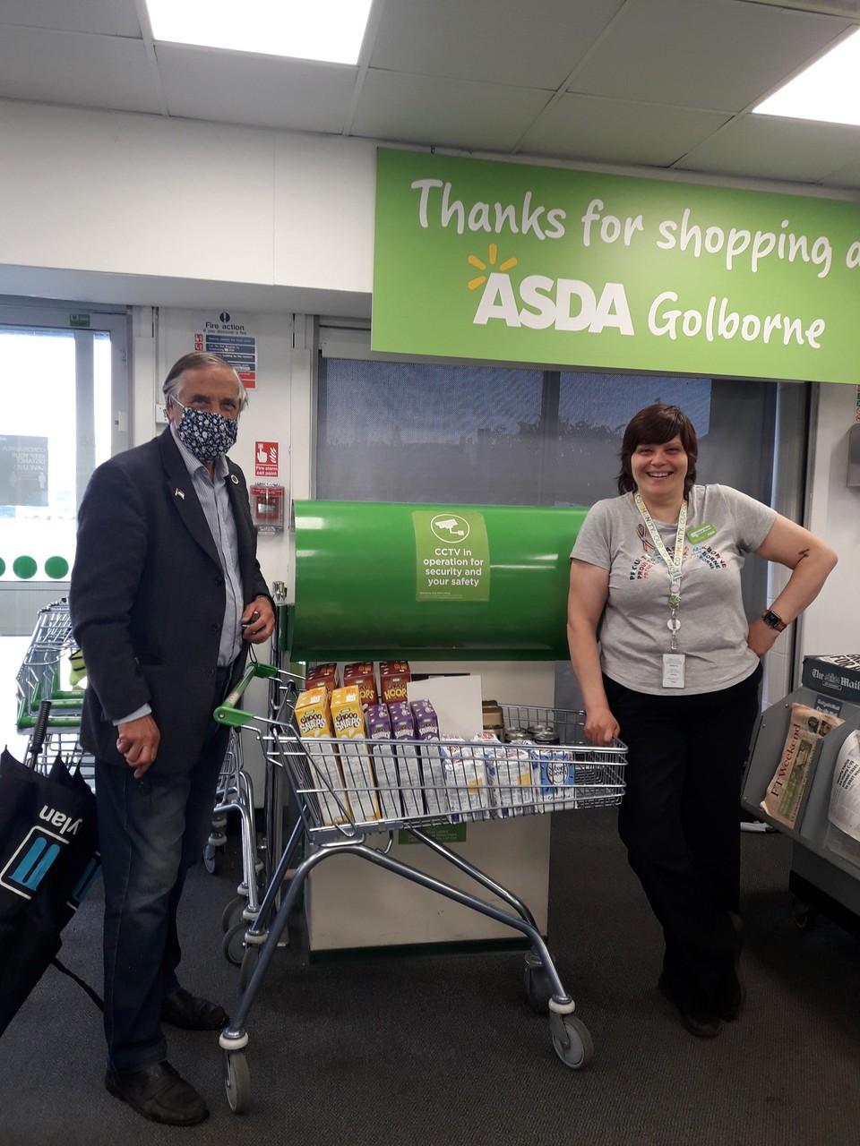 Donation to local foodbank | Asda Golborne