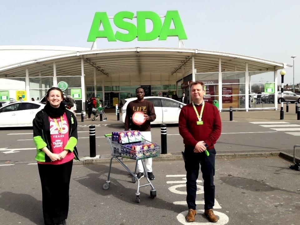 Easter Eggs for Foodbank | Asda Leyton Mills