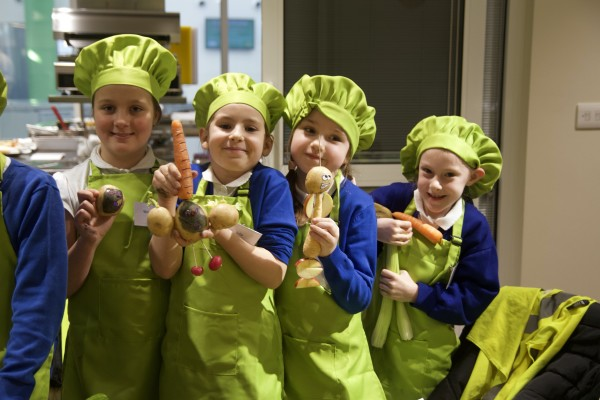Sharp Lane Primary School Veg Heroes with Asda Middleton