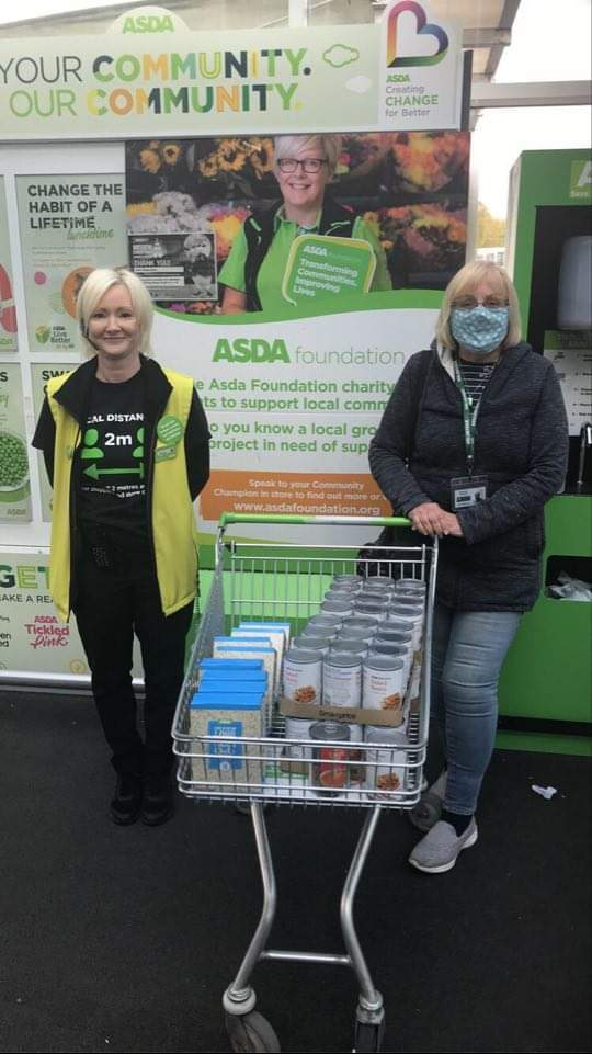 Donation to New Day Church foodbank.  | Asda Clayton Green