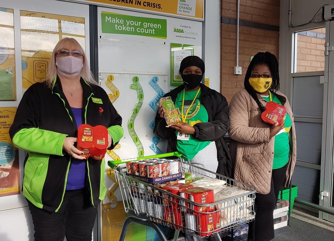 Donation to Equal Education Changes food bank  | Asda Pilsworth