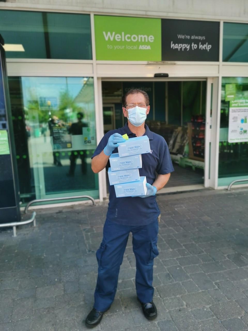 Face mask donation | Asda Crawley