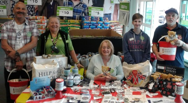 Help for Heroes at Asda Weymouth