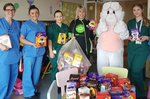 Easter donations to local hospital from Asda Aberdare