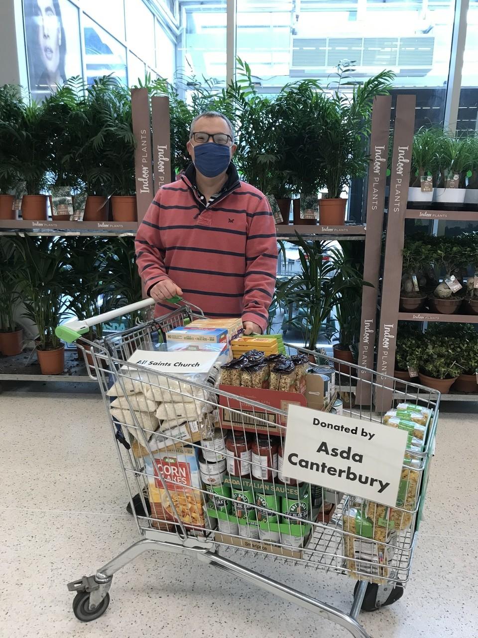 Donation to community food pantry.  | Asda Canterbury
